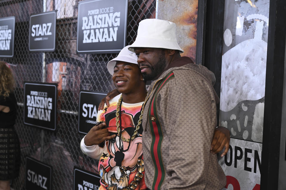 Photo by: NDZ/STAR MAX/IPx 2021 7/15/21 50 Cent and Mekai Curtis at the premiere of 'Power Book III: Raising Kanan' Global Premiere Event And Screening In New York City.