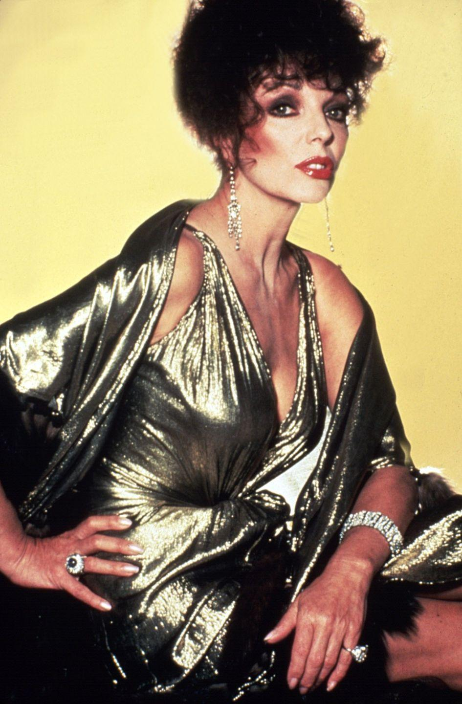 <p>The actress' iconic Alexis Carrington character on <em>Dynasty</em> ushered in a new era of glitz and glamour during the 80s.</p>