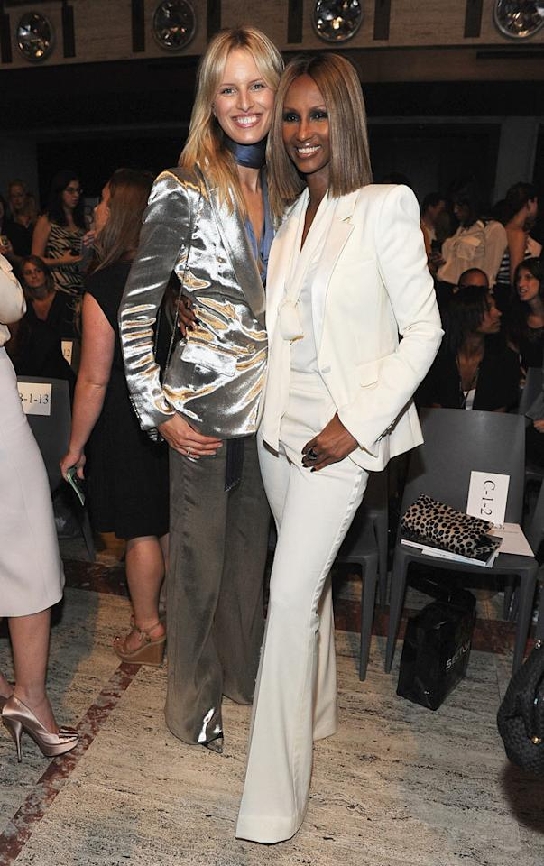 """Models Karolina Kurkova and Iman supported young talent at the Elle FASHION/NEXT event at the Koch Theater on Friday. The second annual soiree highlights the work of graduating students from the Savannah College of Art and Design. A committee including <i>Elle</i> editors and others decides on two standout students to receive $25,000 and valuable contacts in the industry. Frazer Harrison/<a href=""""http://www.wireimage.com"""" target=""""new"""">WireImage.com</a> - September 9, 2011"""