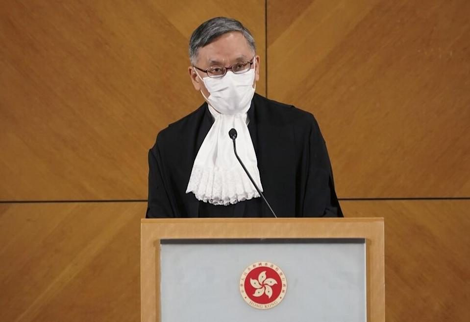 Chief Justice Andrew Cheung. Photo: Felix Wong