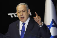 Israel refuses to confirm it has any nuclear weapons but it is thought to be in possession of around 80 to 90 weapons, according to Campaign for Nuclear Disarmament. The weapons are allegedly land-based, on submarines and also on aircraft. <em>Picture: Israeli Prime Minister Benjamin Netanyahu (AP)</em>
