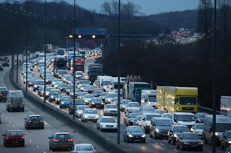 Bank Holiday travel: Traffic backs up on the M25 motorway (Getty Images)