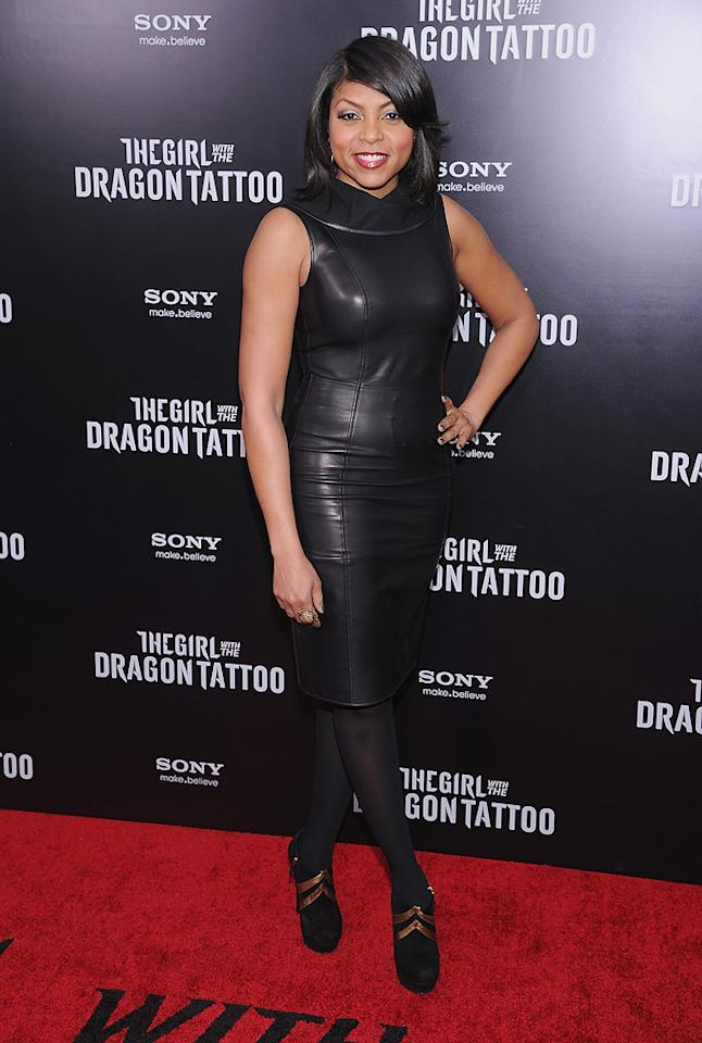"<a href=""http://movies.yahoo.com/movie/contributor/1804514499"">Taraji P. Henson</a> at the New York premiere of <a href=""http://movies.yahoo.com/movie/1810163569/info"">The Girl With the Dragon Tattoo</a> on December 14, 2011."