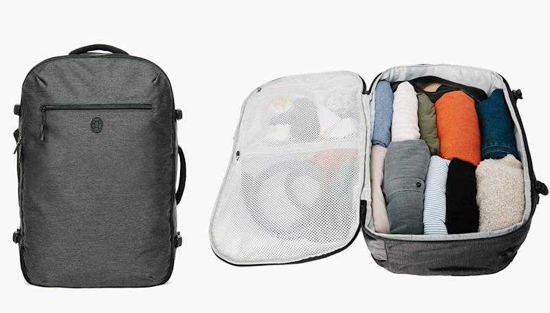 "The <a href=""https://www.tortugabackpacks.com/products/setout-travel-backpack"" target=""_blank"">Tortuga Setout</a> is a backpack-style suitcase that's earning great reviews from one-baggers. (Tortuga)"