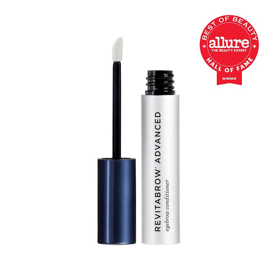 """<p>While other brow conditioners and serums promise miracles, Revitalash RevitaBrow Advanced Eyebrow Conditioner has long delivered on exactly what we're hoping to see: healthier-looking, less brittle, and yes, seemingly fuller eyebrows. """"It's allowed me to use much less pencil and powder than I used the month before,"""" says research director Lori Segal, who adds that it <a href=""""https://www.allure.com/review/revitabrow?mbid=synd_yahoo_rss"""" rel=""""nofollow noopener"""" target=""""_blank"""" data-ylk=""""slk:feels genuinely pleasant"""" class=""""link rapid-noclick-resp"""">feels genuinely pleasant</a> to apply — no stinging or tingling, as you might anticipate from a product that encourages noticeable change. </p> <p><strong>Best of Beauty Awards: 8</strong></p>"""