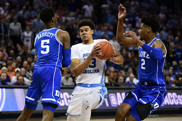 Cam Johnson has developed into a star capable of leading an NCAA tournament run for the North Carolina Tar Heels. (Getty)