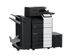 Konica Minolta's bizhub C650i multifunction printer (MFP). Konica Minolta's entire line of bizhub i-Series MFPs exceeds industry standards for cybersecurity compliance, according to recent penetration testing by NTT DATA and NTT Ltd.