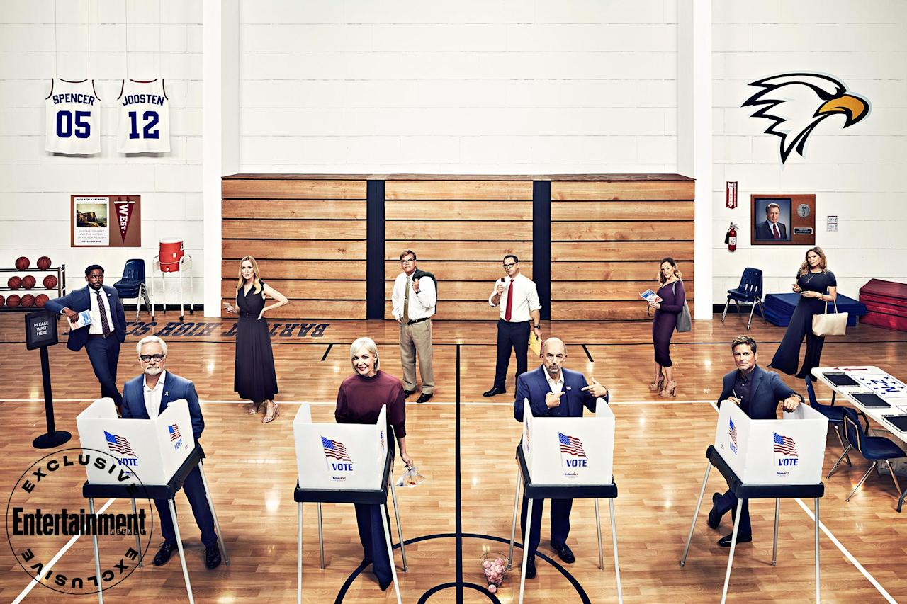 """<p>More than 20 years after <a href=""""https://ew.com/creative-work/the-west-wing/""""><em>The West Wing</em> </a>debuted, EW got the cast and creator of NBC's beloved political drama to reunite to help get out the vote in this crucial election year — and to reminisce on filming the iconic series and as well as the <a href=""""https://ew.com/tv/west-wing-hbo-max-special/"""">upcoming <em>West Wing</em> special</a> (set to air this fall on HBO Max) to benefit <a href=""""https://www.whenweallvote.org/"""">When We All Vote,</a> <a href=""""https://ew.com/tag/michelle-obama/"""">Michelle Obama</a>'s nonprofit, nonpartisan organization dedicated to registering everyone to vote.</p> <p>Click through the gallery to check out these exclusive portraits of <a href=""""https://ew.com/tag/aaron-sorkin/"""">Aaron Sorkin</a> and his White House administration <a href=""""https://ew.com/tv/tv-reunions/west-wing-cast-reunion/"""">from the cover of EW's 30th anniversary issue</a>.</p>"""