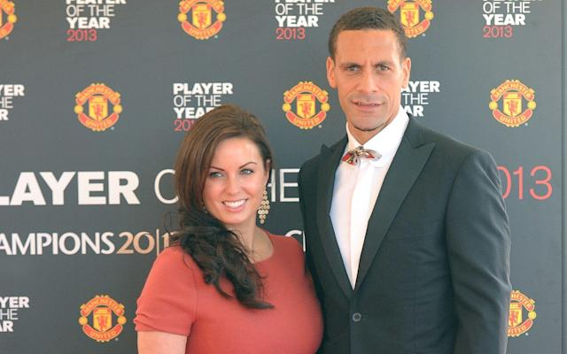 Loss: Rio Ferdinand and his late wife Rebecca, pictured in 2013 - PA