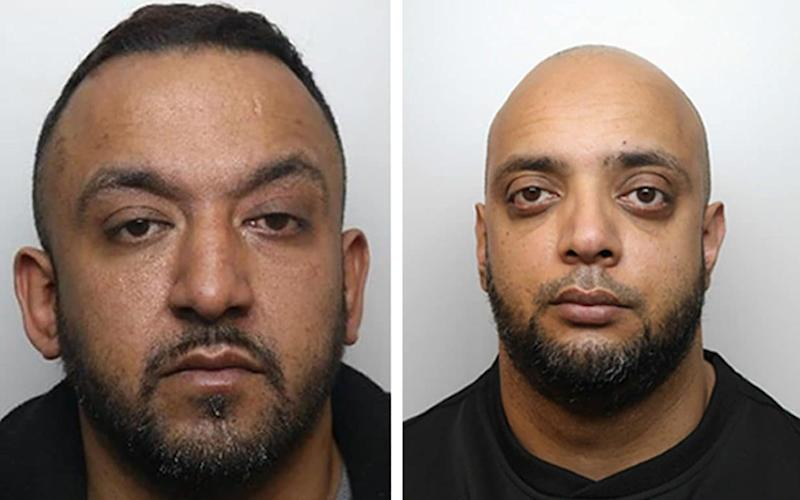 Grooming gang members Abid Saddiq (left) and Aftab Hussain (right), who were jailed for sexually exploiting seven young girls in Rotherham, South Yorkshire. - PA