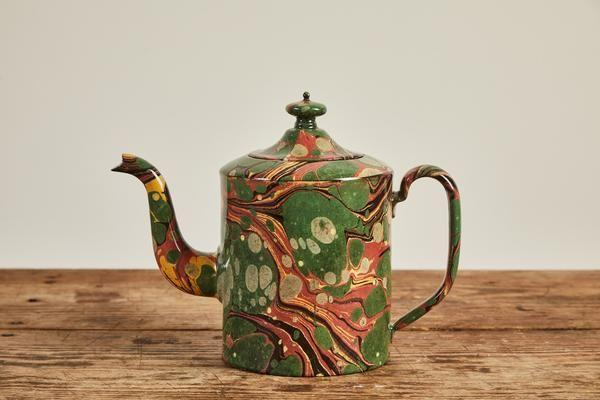 """<p>nickeykehoe.com</p><p><strong>$825.00</strong></p><p><a href=""""https://nickeykehoe.com/collections/coffee-and-tea/products/astier-de-villatte-yellow-and-green-marble-teapot"""" rel=""""nofollow noopener"""" target=""""_blank"""" data-ylk=""""slk:Shop Now"""" class=""""link rapid-noclick-resp"""">Shop Now</a></p><p>Tea's on! This gorgeous teapot by John Derian and Astier will be on display long after they've poured their first cup. </p>"""