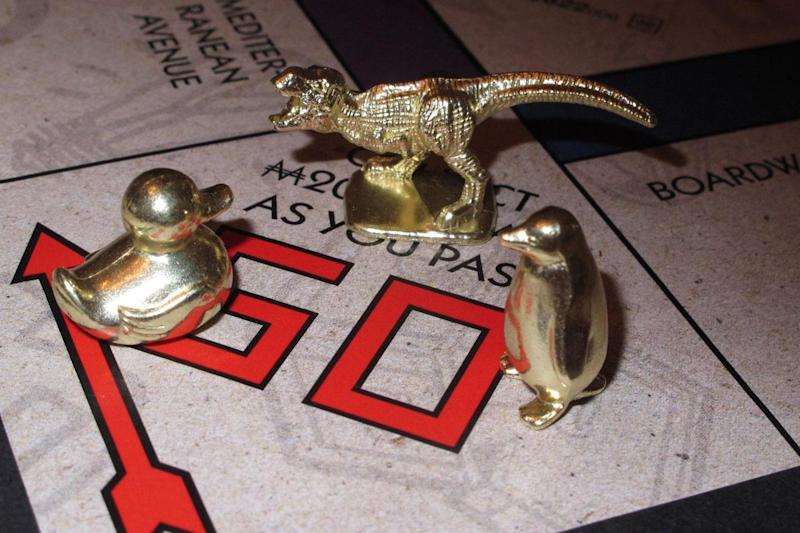 New pieces: The T-Rex, rubber duck and penguin: AP