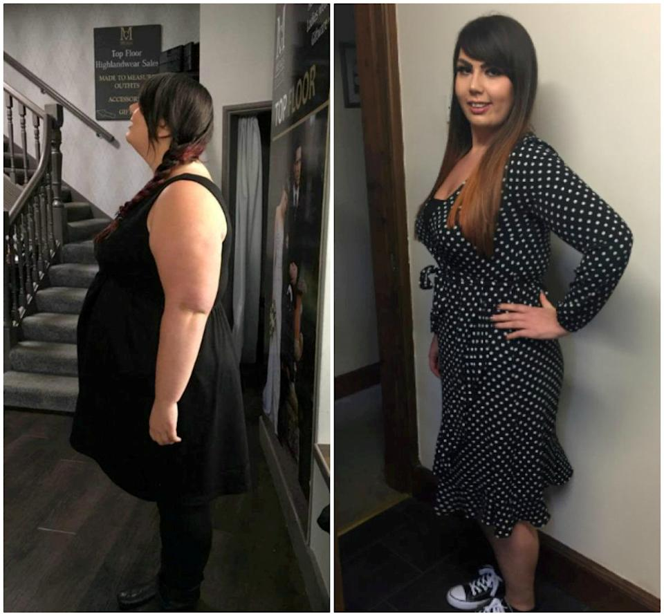 Danielle Richmond in 2017 (left) and in 2019 (right). [Photo: SWNS]