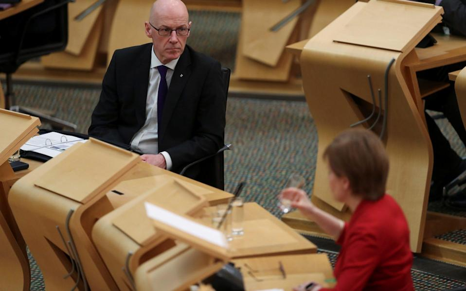 John Swinney has pledged to hand over legal advice - Reuters