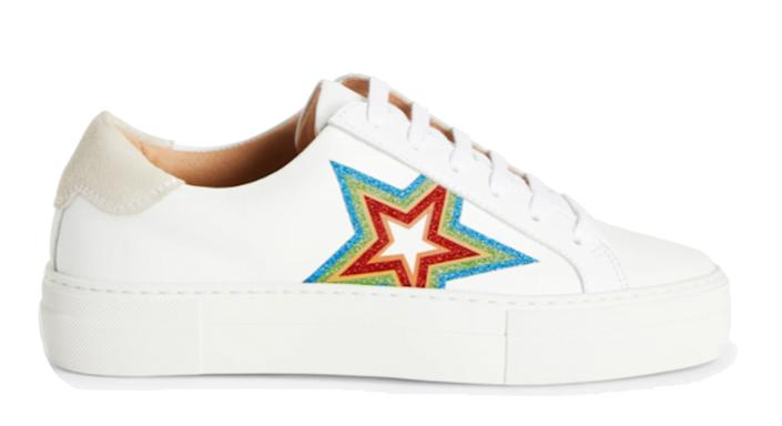 AND/OR Elna Leather Flatform Trainers