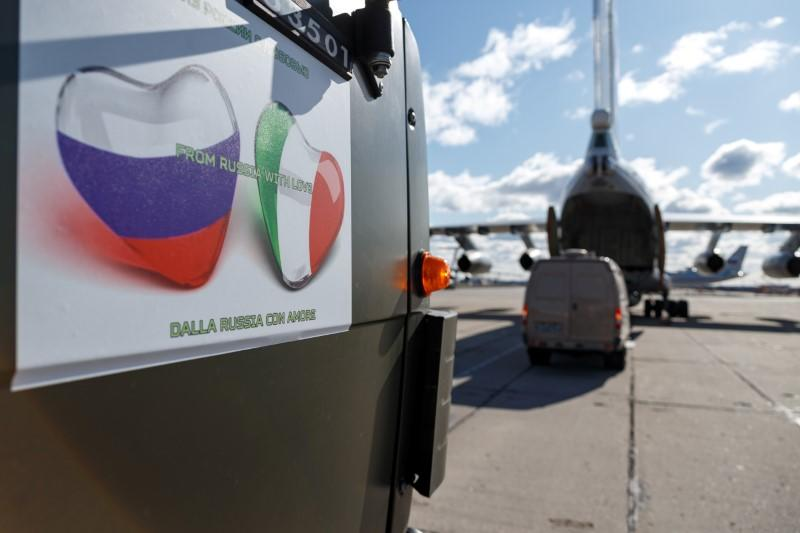 Russian army to send coronavirus help to Italy after Putin phone call