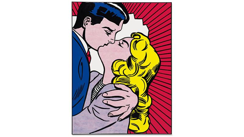 Roy Lichtenstein's Kiss III, 1962, sold for $31.1 million.