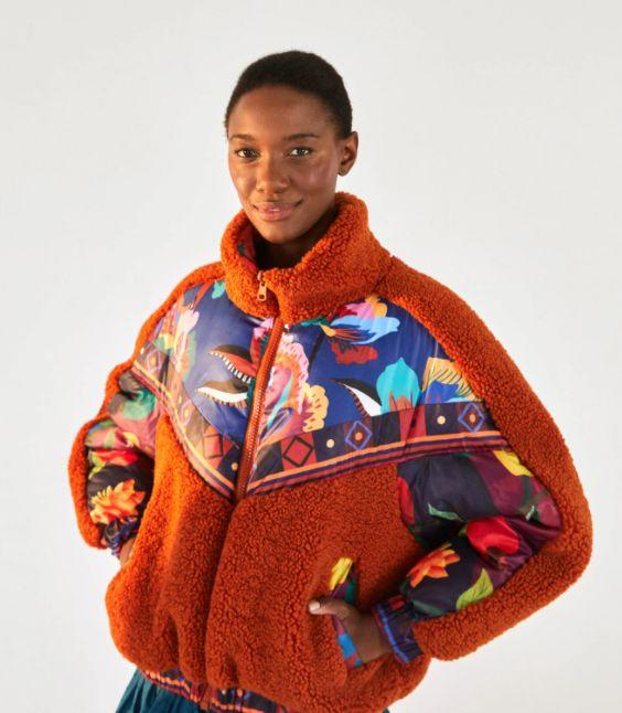 """<a href=""""https://fave.co/2yX7M9b"""" target=""""_blank"""" rel=""""nofollow noopener noreferrer"""">Farm Rio</a>is Brazilian fashion retailer that carries bright prints and bold silhouettes. It also plants a tree in the Amazon for every purchase made. The brand was founded by Katia Barros, who wanted to launch a clothing collection that embodies the feminine spirit and vibrant colors of Rio. Shop this<a href=""""https://fave.co/3lEoSv8"""" target=""""_blank"""" rel=""""noopener noreferrer""""> Lucy Floral Puffer for $395</a> at<a href=""""https://fave.co/2yX7M9b"""" target=""""_blank"""" rel=""""nofollow noopener noreferrer"""">Farm Rio</a>and<a href=""""https://fave.co/2ZAWTnZ"""" target=""""_blank"""" rel=""""nofollow noopener noreferrer"""">Shopbop</a>."""