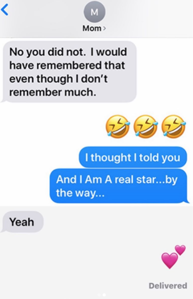 Marian Robinson's text kept her daughter in check. (Photo: Instagram via Michelle Obama)