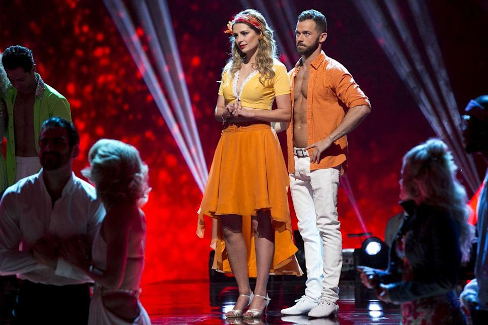 """<p>It was far from smooth sailing for Mischa and her partner, Artem Chigvintsev, as the two never hit it off. The actress lasted three weeks, but from the very beginning it was clear to the audience that she didn't want to be on the show. """"You're already in the zone of not wanting to do this,"""" Artem told Mischa backstage during filming. </p><p>After being eliminated, Mischa explained that she was happy to have been voted off and blamed everything from her partner to a lack of creative control with wardrobe to why the experience wasn't positive for her.</p>"""