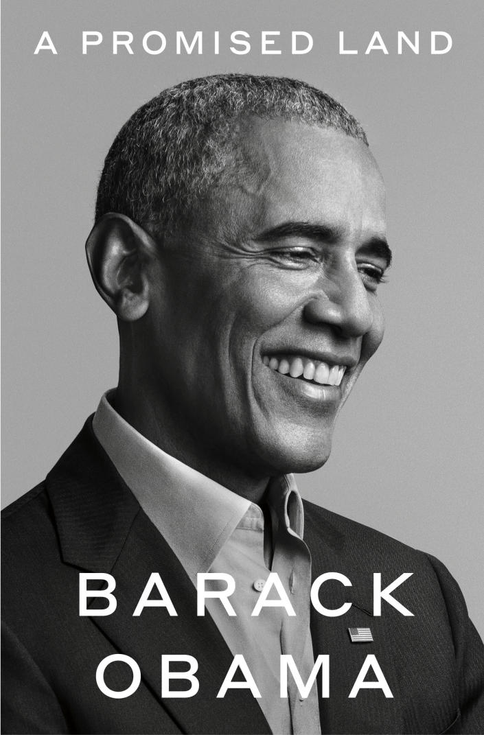 """This photo provided by Random House shows the cover of """"A Promised Land."""" The first volume of former President Barack Obama's memoir is coming out Nov. 17, two weeks after Election Day. (Pari Dukovic/Random House via AP)"""