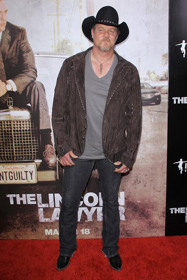 """<a href=""""http://movies.yahoo.com/movie/contributor/1801921912"""">Trace Adkins</a> at the Los Angeles premiere of <a href=""""http://movies.yahoo.com/movie/1810088161/info"""">The Lincoln Lawyer</a> on March 10, 2011."""