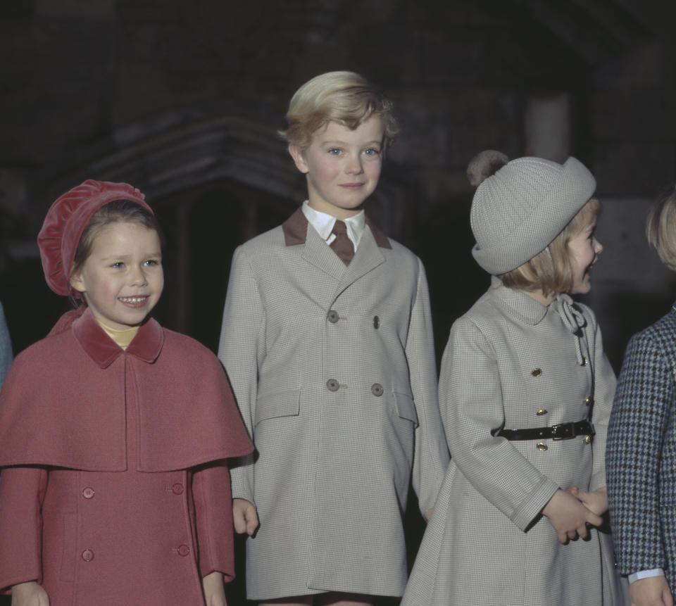 Some also claimed she resembles Lady Sarah Chatto as a child (pictured, left, in 1969 aged five) (Getty Images)