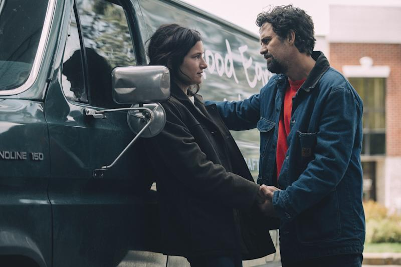 "Kathryn Hahn and Mark Ruffalo in a scene from ""I Know This Much Is True."""