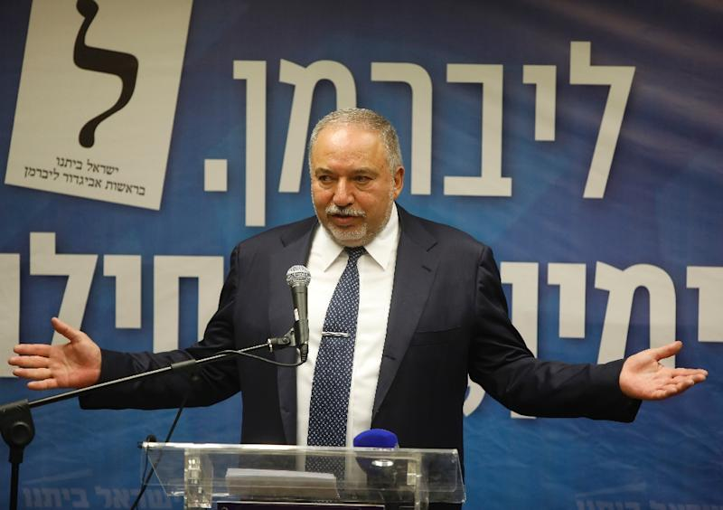 Former Israeli defence minister Avigdor Lieberman is refusing to budge in coalition negotiations with Prime Minister Benjamin Netanyahu (AFP Photo/Menahem KAHANA)