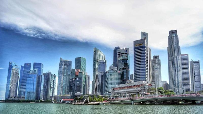 Skyline of Singapore CBD during the day