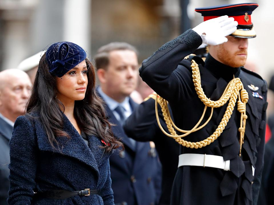 prince harry and meghan remembrance