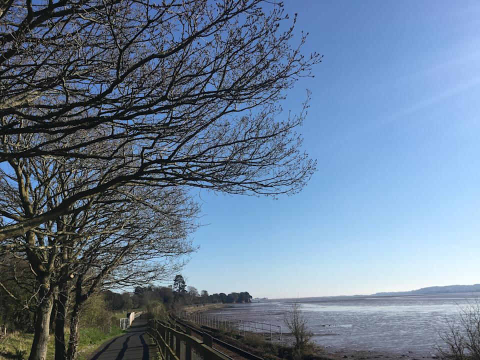 The view from the cycle path.  (Photo: Sarah Turnnidge)