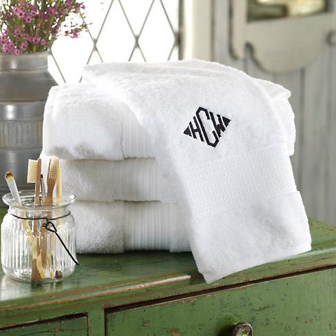"Comfort Yourself with Cotton  A simple upgrade of your bath towels can impart the plush luxuries of a spa experience every time you step out of the tub or shower. These Greenwich Towels from Ralph Lauren are woven in a specially engineered ""air rich"" yarn, which gives them excellent absorbency and superior loft. Made of 100% cotton, the lint-free towels come in a rainbow of colors with monogram options available. Ralph Lauren, $6-30 (Photo: Ralph Lauren)"