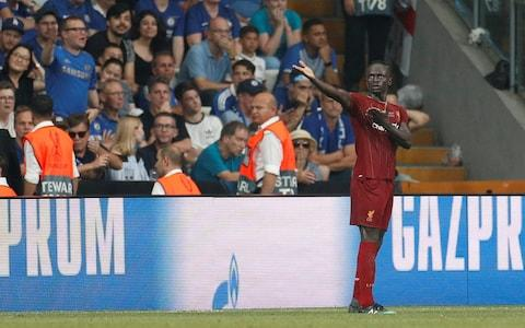 Mane celebrates his second in Istanbul - Credit: Reuters