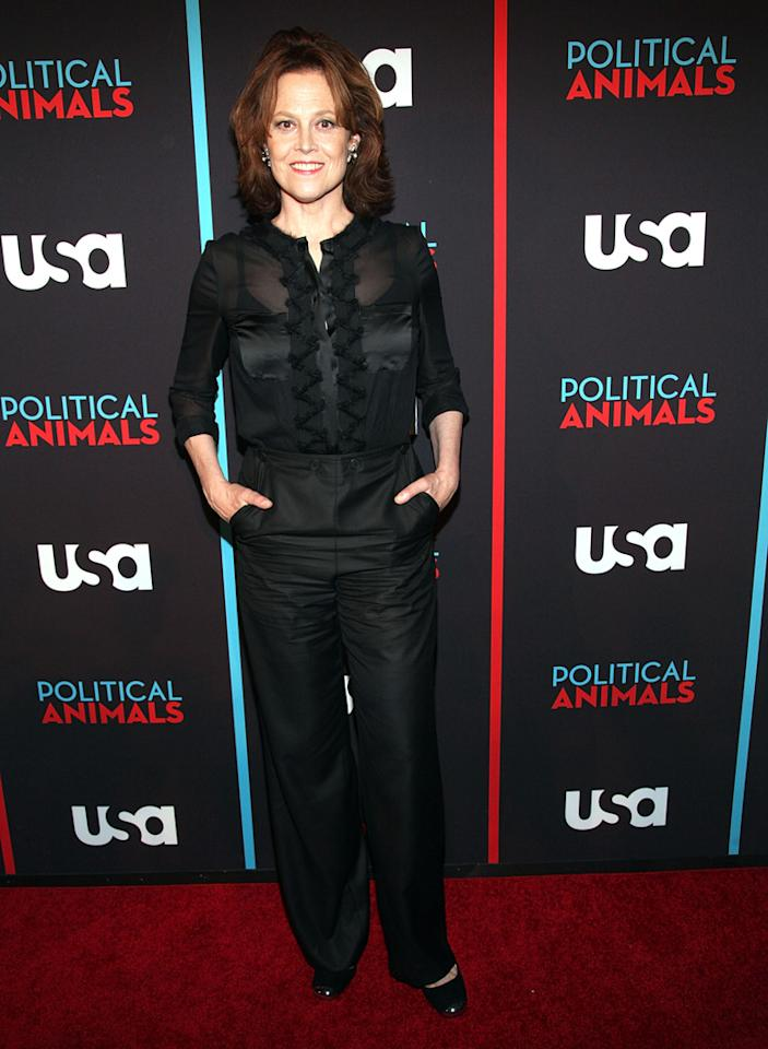 "Sigourney Weaver attends the ""Political Animals"" premiere at The Morgan Library & Museum on June 25, 2012 in New York City."