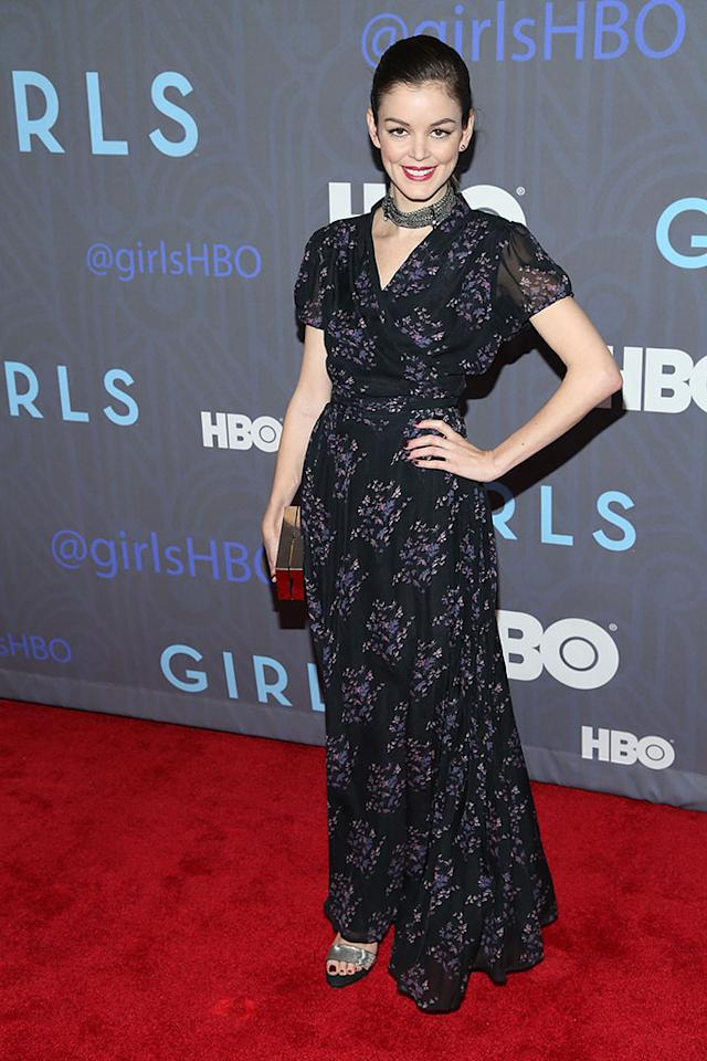 "Nora Zehetner attends HBO's premiere of ""Girls"" Season 2 at the NYU Skirball Center on January 9, 2013 in New York City."