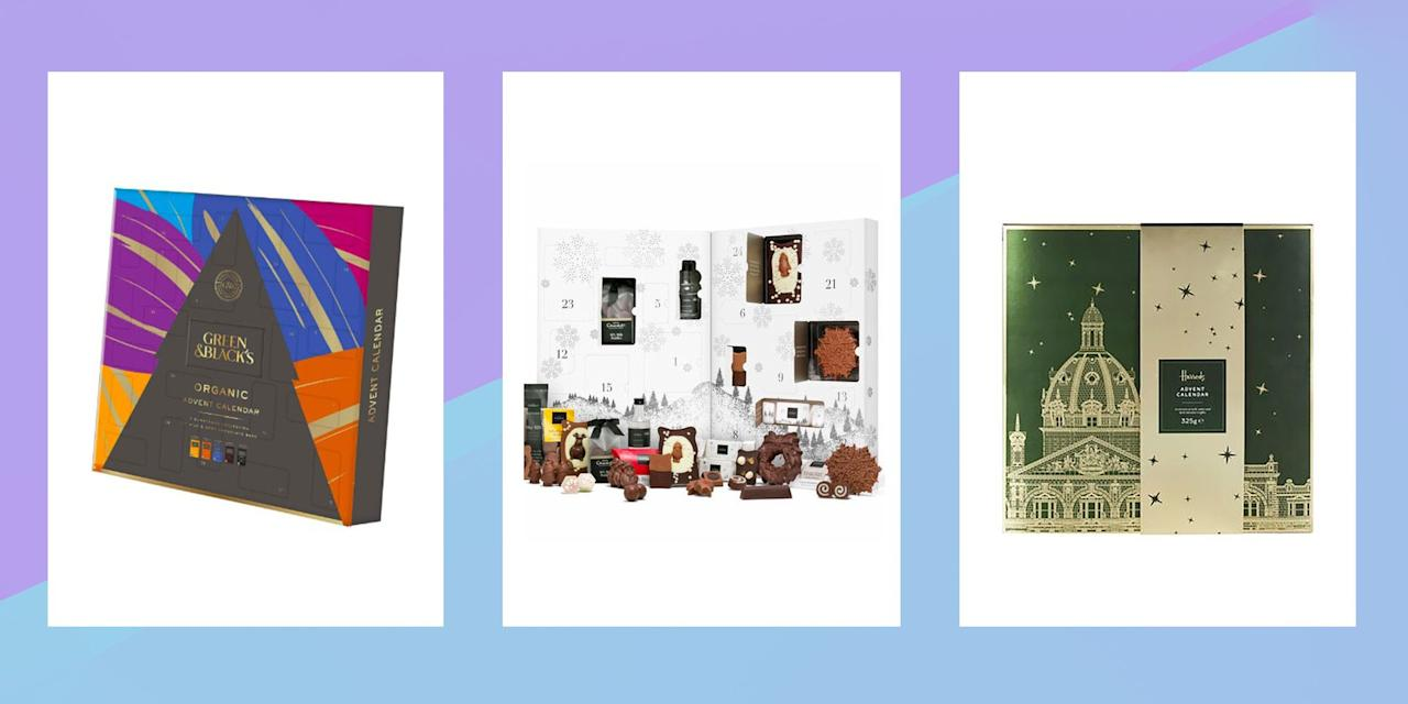 "<p>The countdown to <a href=""https://www.cosmopolitan.com/uk/christmas-present-ideas/"" target=""_blank"">Christmas</a> - aka an excuse to eat chocolate every day for breakfast - is on, and what better way to plan for it than getting your hands on the best chocolate advent calendars for 2019? Whether you're after Hotel Chocolat's MASSIVE offering (it truly is grand) or fancy some truffles from Harrods, there's a chocolate advent calendar for every taste - even down to salted caramel lovers. Green and Black's also have a calendar on offer for the second year in a row, while Fortnum and Mason is also getting in on the action, alongside the classics from Cadbury. </p><p> If you're planning on getting your hands on more than one, there are also a whole host of <a href=""https://www.cosmopolitan.com/uk/worklife/g12216258/best-alcohol-advent-calendars/"" target=""_blank"">alcoholic advent calendars</a> up for grabs this year, as well as an actual <a href=""https://www.cosmopolitan.com/uk/entertainment/news/a47634/cheese-advent-calendar/"" target=""_blank"">cheese advent calendar</a> and some gorgeous <a href=""https://www.cosmopolitan.com/uk/beauty-hair/beauty-trends/a38073/best-beauty-advent-calendars-2015/"" target=""_blank"">beauty advent calendars.</a> Can it be December already?</p>"