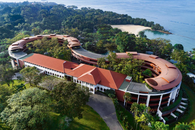The Capella hotel has more than 100 rooms and its villas face the South China Sea. It was restored in part from 19th century British colonial buildings that used to house British officers belonging to the Royal Artillery and their families in the 1880s. (Photo: Capella Singapore via AP)