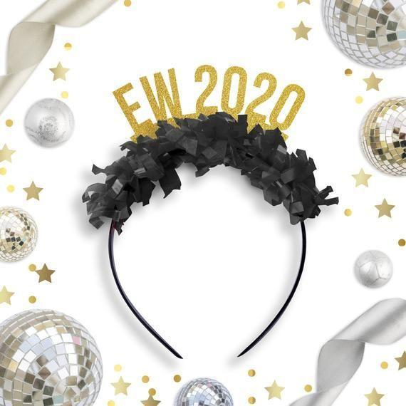 """<p><strong>FestiveGal</strong></p><p>etsy.com</p><p><strong>$14.99</strong></p><p><a href=""""https://go.redirectingat.com?id=74968X1596630&url=https%3A%2F%2Fwww.etsy.com%2Flisting%2F743739566%2Fschitts-creek-new-years-2020-tiara-nye&sref=https%3A%2F%2Fwww.redbookmag.com%2Flife%2Fg34832329%2Fbest-schitts-creek-gifts%2F"""" rel=""""nofollow noopener"""" target=""""_blank"""" data-ylk=""""slk:SHOP NOW"""" class=""""link rapid-noclick-resp"""">SHOP NOW</a></p><p>NYE will be a lot different this year. That said, no one should go without a festive headband to welcome 2021. While sipping champagne, bid farewell to 2020 in style with an Alexis-inspired headband. Bonus: If you need the piece to match your ensemble, these headbands come in several color combinations.</p>"""