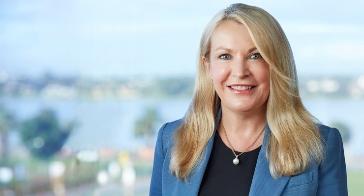 A picture of Elizabeth Gaines, Fortescue Metals' woman CEO.