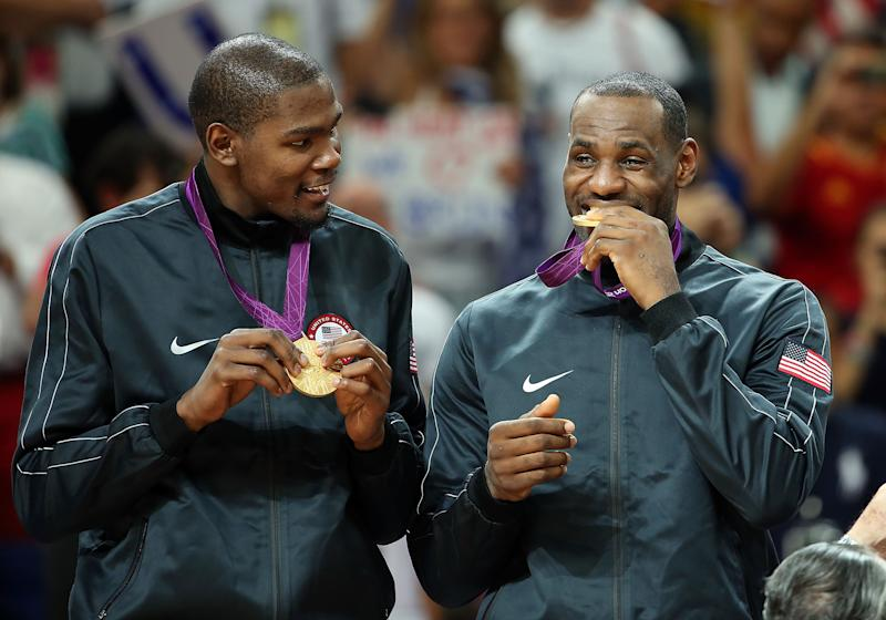 LeBron James and Kevin Durant won gold together at the 2012 London Olympics. (Christian Petersen/Getty Images)