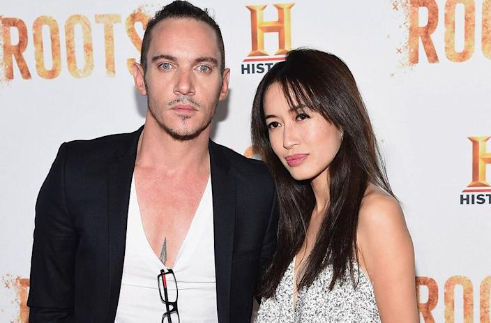 Jonathan Rhys Meyers and Mara Lane at the <em>Roots</em> screening at NYC's Lincoln Center, in 2016. (Photo: Gary Gershoff/WireImage)