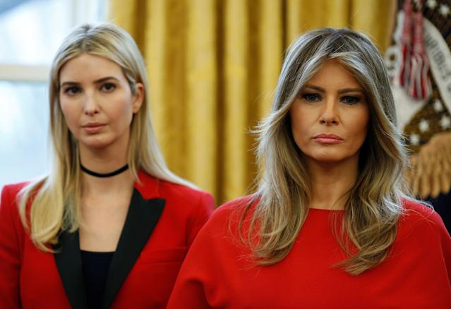 A new unauthorized biography speculates about tension between Melania Trump and stepdaughter Ivanka. (Photo: REUTERS/Joshua Roberts)