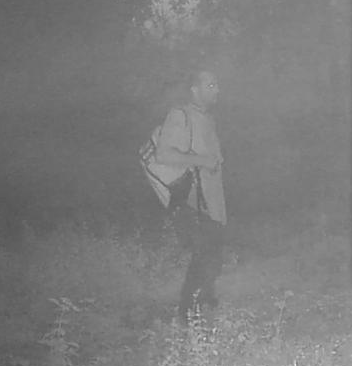 A deer cam picked up a potential sighting of Brian Laundrie in Florida (Facebook/Sam Bass)
