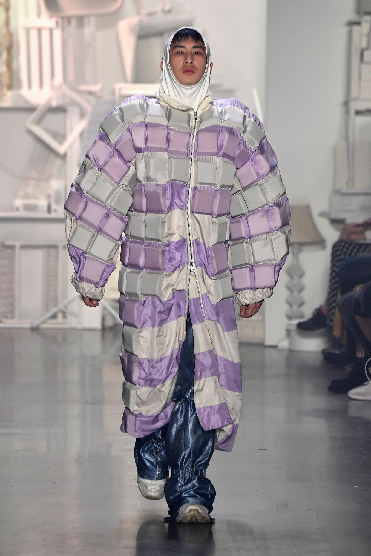 This coat by designer Yufei Liu (from the Rhode Island School of Design) definitely falls squarely into the <span>&quot;oversized&quot; trend</span> box and it's anything but basic.