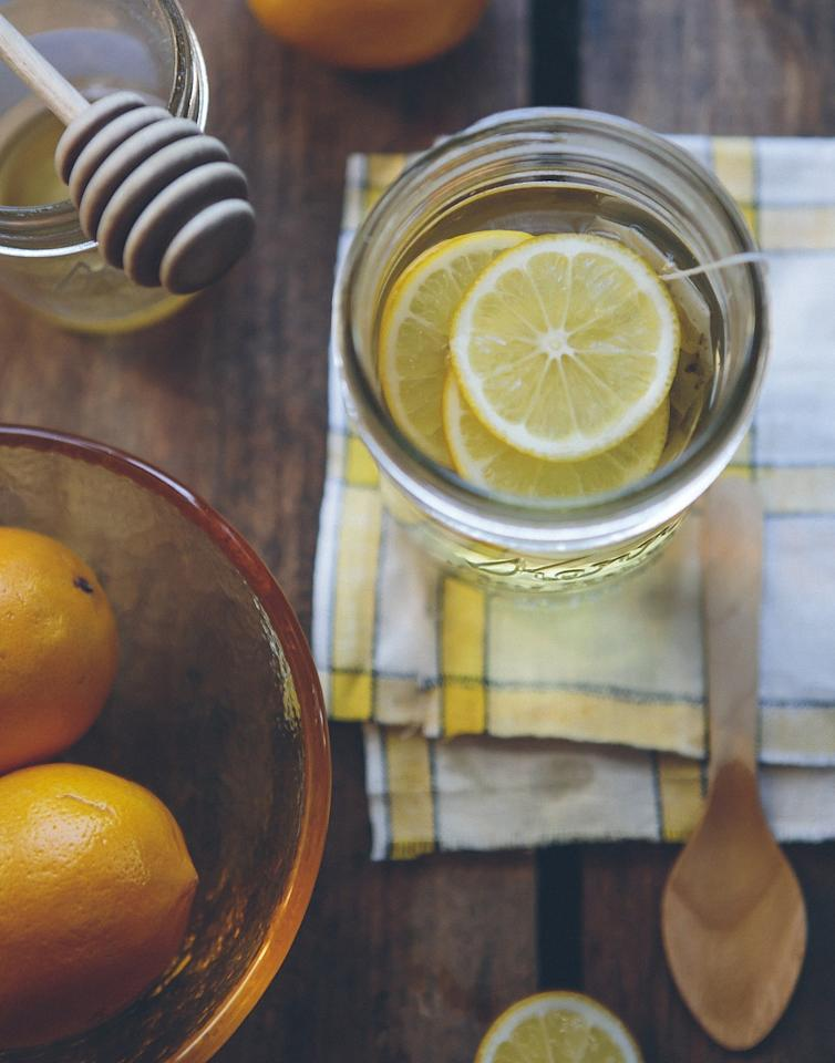 Lemons are a natural source of vitamin C, which are primary antioxidants that help protect cells from damaging free radicals. Vitamin C is also good for the adrenals and can potentially help reduce the effects of stress.