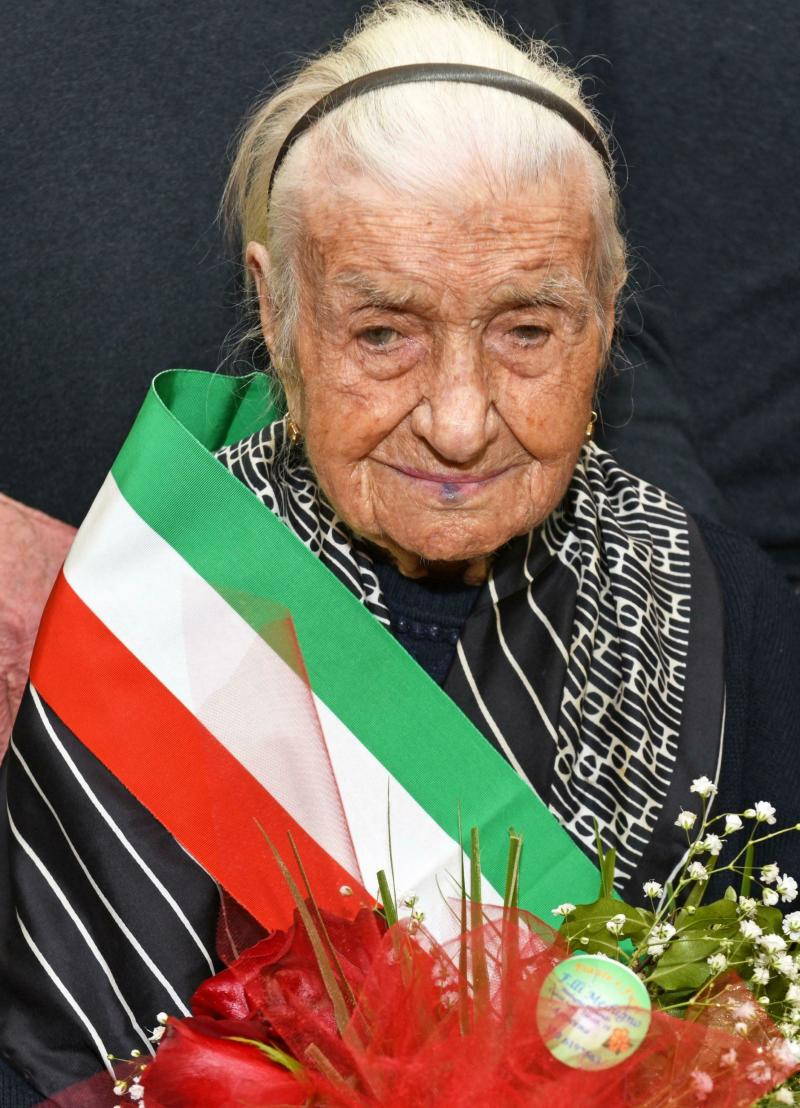 Italy Europe Oldest Woman