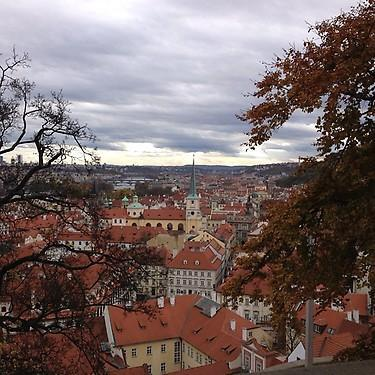 Stunning view of Prague. (#NickInEurope)