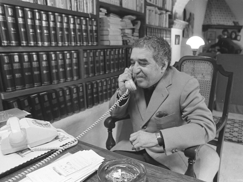 FILE - This undated file photo shows Nobel laureate Gabriel Garcia Marquez at an undisclosed location. Marquez died Thursday April 17, 2014 at his home in Mexico City. (AP Photo)