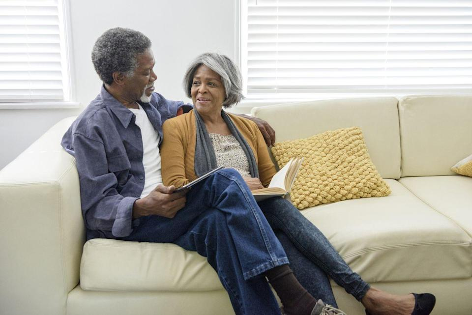 """<p>""""Taking turns reading aloud to one another is the perfect way to connect,"""" says psychologist and life coach <a href=""""https://www.drbryant.co/"""" rel=""""nofollow noopener"""" target=""""_blank"""" data-ylk=""""slk:Dr. Cheyenne Bryant"""" class=""""link rapid-noclick-resp"""">Dr. Cheyenne Bryant</a>. By focusing on just the passages (and each other) this experience can help foster intimacy, she adds. Need a suggestion? Check out our <a href=""""https://www.oprahdaily.com/entertainment/books/g23284908/best-fall-books/"""" rel=""""nofollow noopener"""" target=""""_blank"""" data-ylk=""""slk:list of some of the best fall books"""" class=""""link rapid-noclick-resp"""">list of some of the best fall books</a> to read now.</p>"""